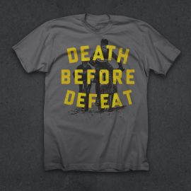 Twin Six T-shirt Death Before Defeat M